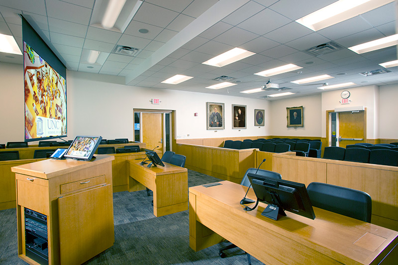 UNC-CH: Law School Mock Courtroom